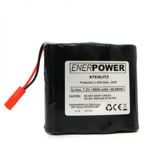 ENERpower Steglitz Battery 7.4V 6900 mAh for Scurion & Pulsar