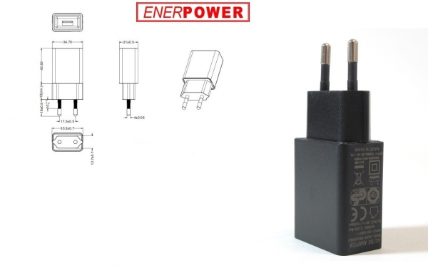 ENERpower EP-5W 5V 1A USB Black
