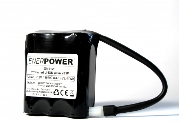 ENERpower Rudow Basic Battery 7.4V 12600 mAh Molex