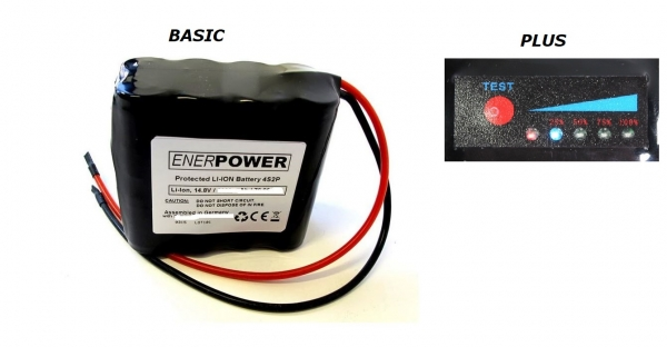 ENERpower 4S2P battery 14.4V-14.8V 6800 mAh Li-Ion with cables open ends