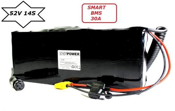 Softpack Battery 52V 30Ah BMS 30A XLR-3 with 50E