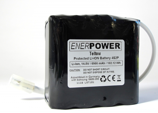 ENERpower Teltow Battery 14.4V (4S2P) 6900 mAh -for My Tiny Sun with Molex - LED