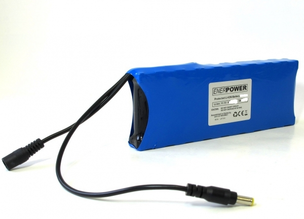 ENERpower 3S3P 11.1V battery (12V) 10.35Ah 115 Wh 9 x 1 for Echosounder