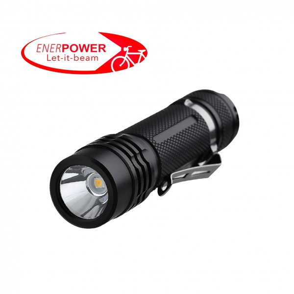 ENERpower Folomov flashlight 900L + Battery + Bike Mount