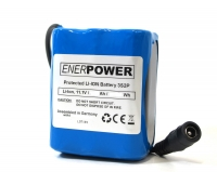 ENERpower Battery 10.8V-11.1V (12V) 10000 mAh with Round Plug (3x2)