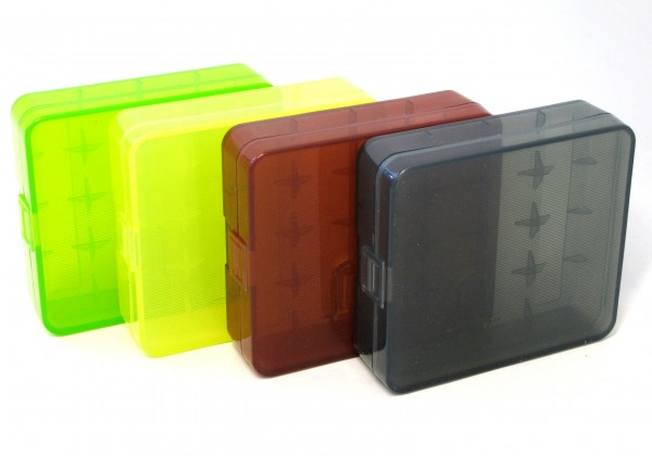Plastic Box, Case for 1-4 x Batteries (Format 18650)