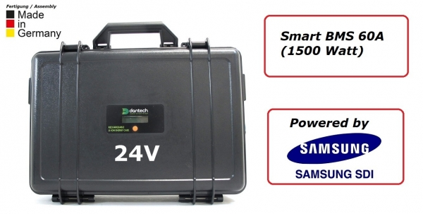 Battery case 24V 75Ah BMS 60A with 35E (1500 Watt)