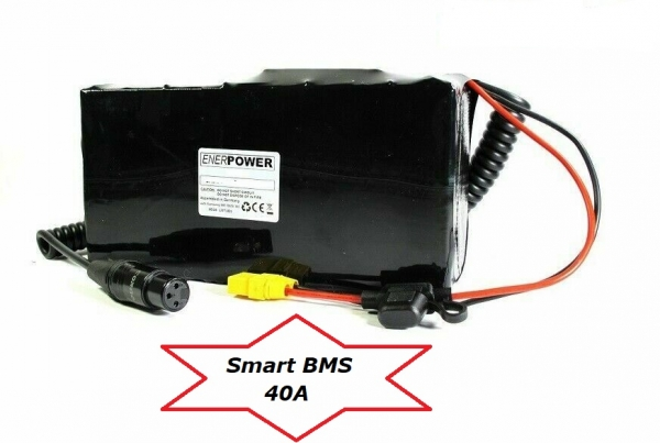 Softpack Battery 24V 35Ah BMS 40A XLR-3 with 50M