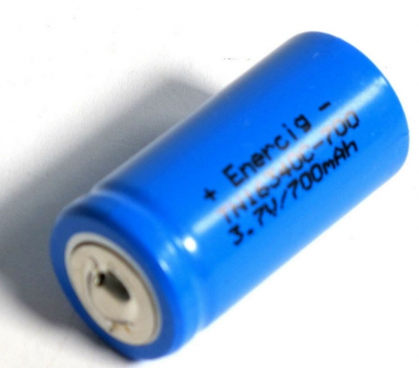 Enercig 16340 3,6V Li-Ion Cell 700 mAh (2C) Button-Top