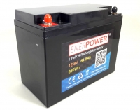 ENERpower LiFePO4 12V (12,8V) 64,80Ah 820Wh (640 Watt)
