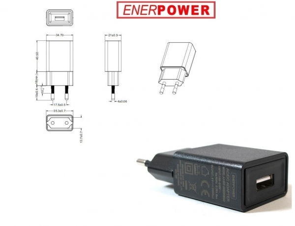 ENERpower EP-10B 5V 2A USB Black 10W