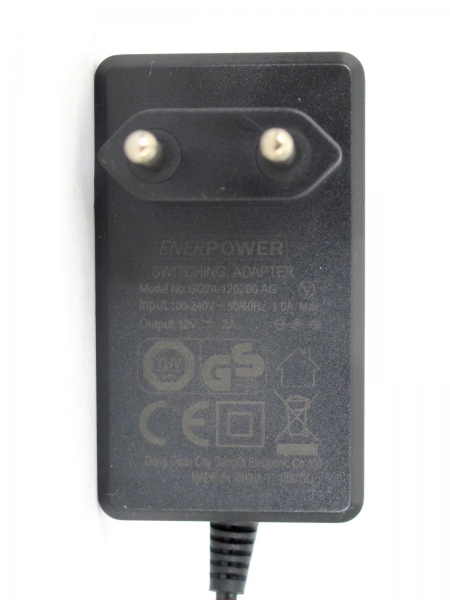 ENERpower power supply 12V AC-DC 2A output (24W) 5.5 x 2.5 mm EU