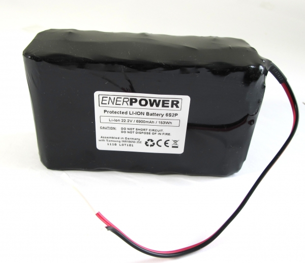 ENERpower Akku Li-Ion 6S2P 21,6V-22,2V 6,9Ah 5A PCM Open-End