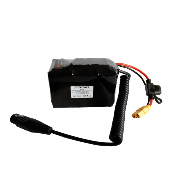 Softpack Battery 24V 10Ah BMS 20A XLR-3 with 50E 7x2 Anderson - LB