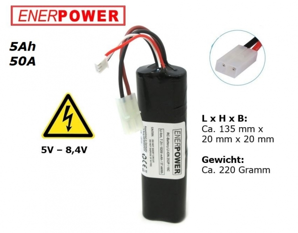 Enerpower 2S2P 7,2V Li-Ion 5000 mAh 50A Tamiya Racing Pack