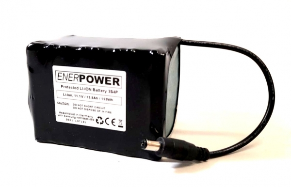 ENERpower Trail Camera 3S4P 11.1V battery (12V) 13.80Ah 150Wh