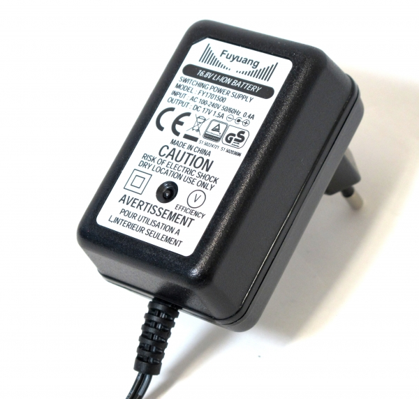 ENERpower 6S Charger for Li-Ion Batteries 21.6V-22.2V 1A DC