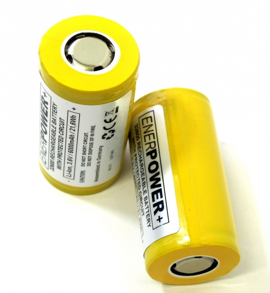 ENERpower+ Battery 3.6V 6000mAh Flat-Top 32600