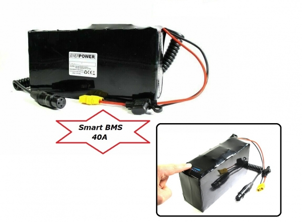 Softpack Battery 36V 16 Ah BMS 40A XLR-3 with 40T
