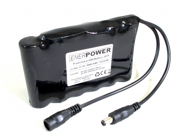 ENERpower Battery 10.8V-11.1V (12V) 6800 mAh with Round Plug Male / Female (6x1)