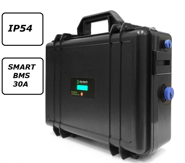 Battery case 24V 30 Ah BMS 30A XLR-3 with 50E IP54