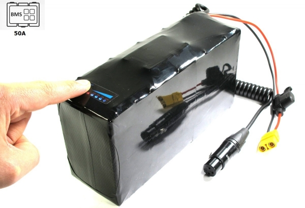 Softpack Battery 24V 18Ah (440Wh) BMS 50A XLR-3 with 30T (up to 1200 Watt)