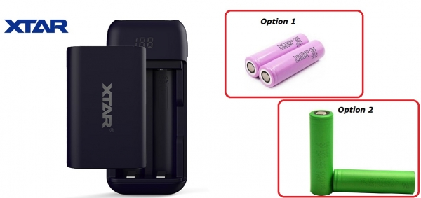 XTAR PB2 RED Charger / Powerbank for 2 x 18650 cells