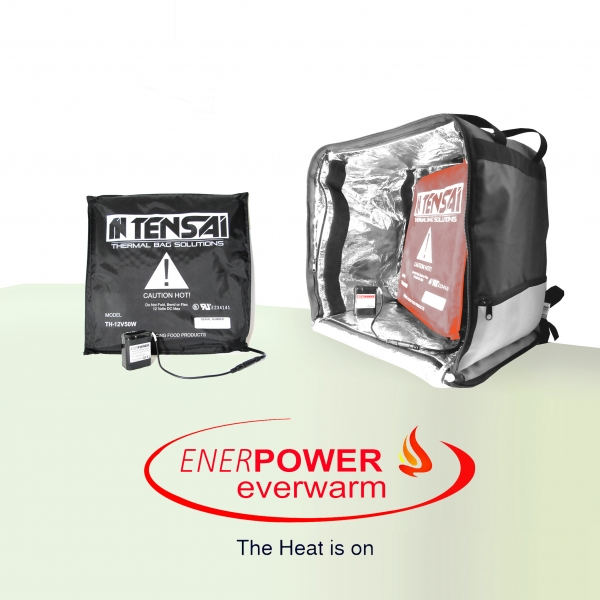 ENERpower Everwarm – battery-powered heating system 50W 12V + battery 102Wh