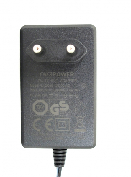 ENERpower power supply 12V AC-DC 3A output (36W) 5.5 x 2.5 mm EU