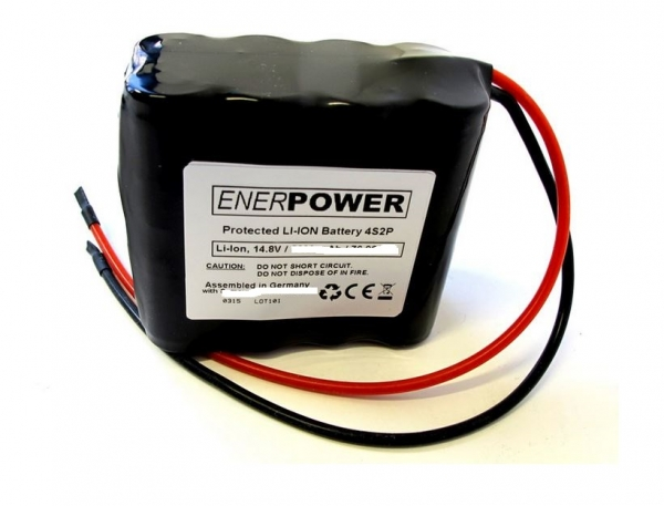 ENERpower 4S2P battery 14.4V-14.8V 5800 mAh Li-Ion with cables open ends
