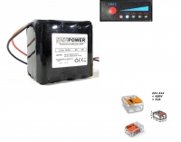 ENERpower 4S3P battery 14.4V-14.8V 15Ah Li-Ion cable open-end 8A PCM