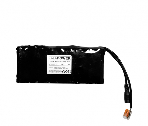 ENERpower 3S3P 11.1V battery (12V) 15Ah 165 Wh 6 x 1 for Echosounder