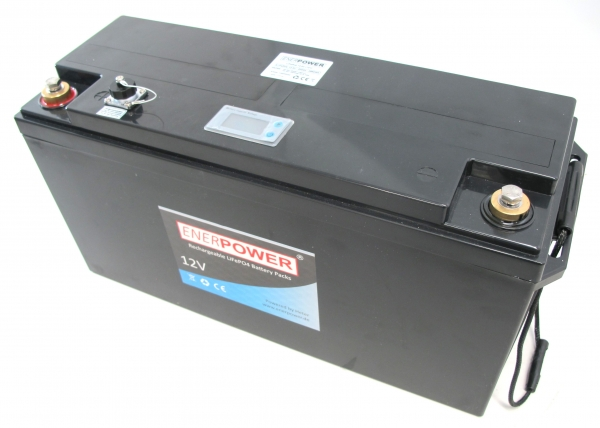 ENERpower LiFePO4 12V (12.8V) 200Ah 2560Wh Smart BMS up to 200A