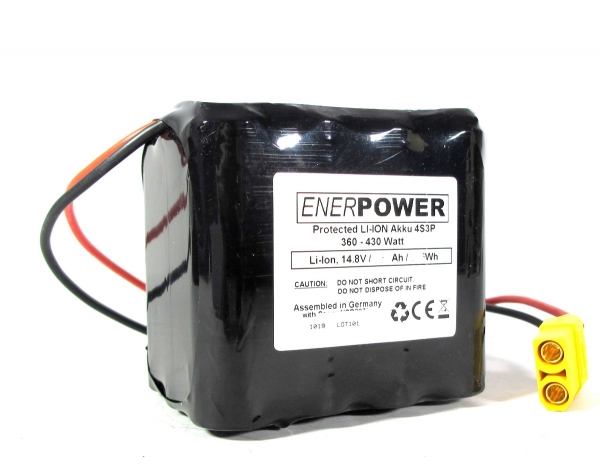ENERpower 4S3P High-Discharge battery 14.4V-14.8V 9000 mAh Li-Ion 30A XT90