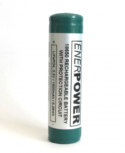 ENERpower LiFePo4 battery 3.2V 1600mAh Protected
